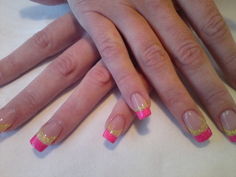 yellow and hot pink